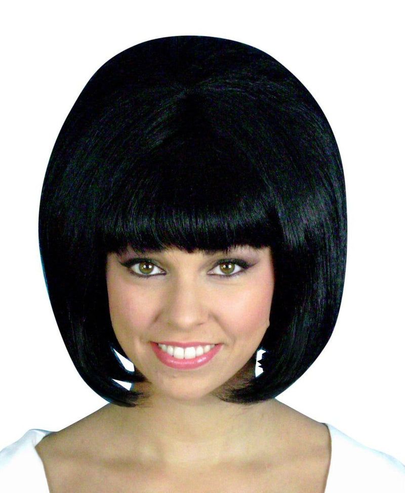 WIG BEEHIVE 1960s CLASSIC BLACK
