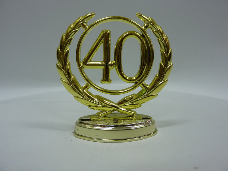 TOPPER 40 WREATH GOLD 65MM & BASE - Last Chance Obsolete!