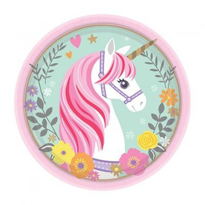 MAGICAL UNICORN LUNCH PLATES PK/8