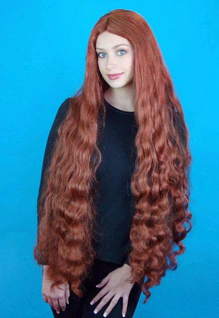 WIG MERMAID ARIEL LONG AUBURN