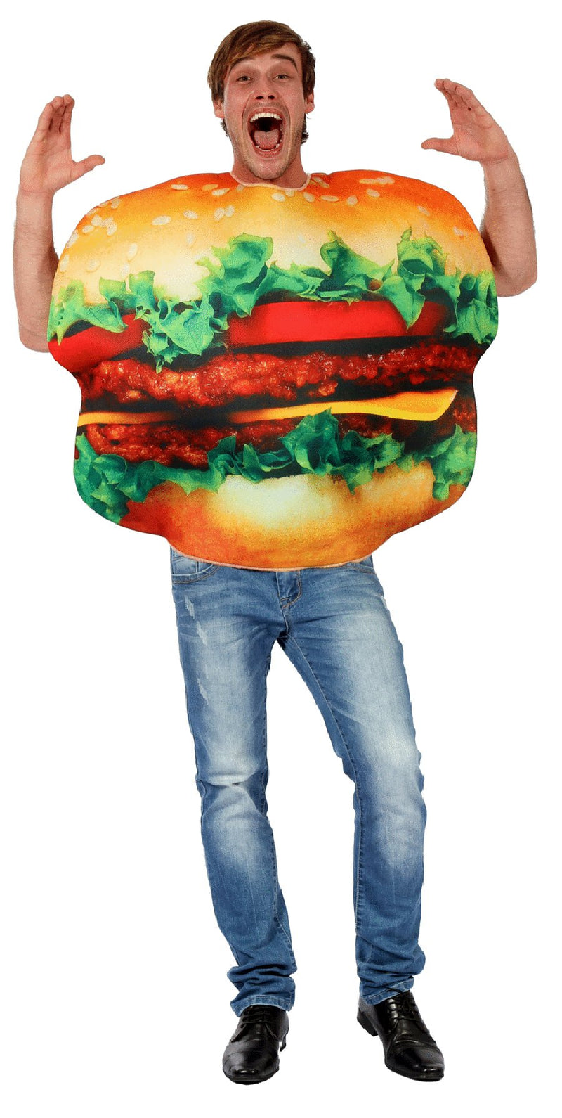 COSTUME ADULT BURGER MAN