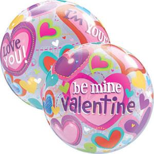 BALLOON BUBBLE 56CM BE MINE VALENTINE