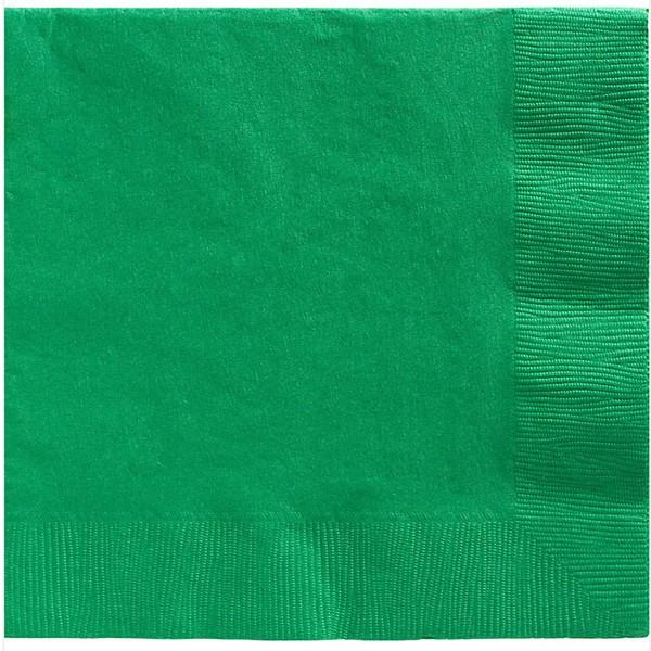 NAPKINS DINNER 2PLY FEST GREEN P/20