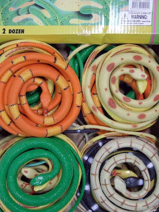 SNAKE RUBBER 90CM LIGHT COLOURS
