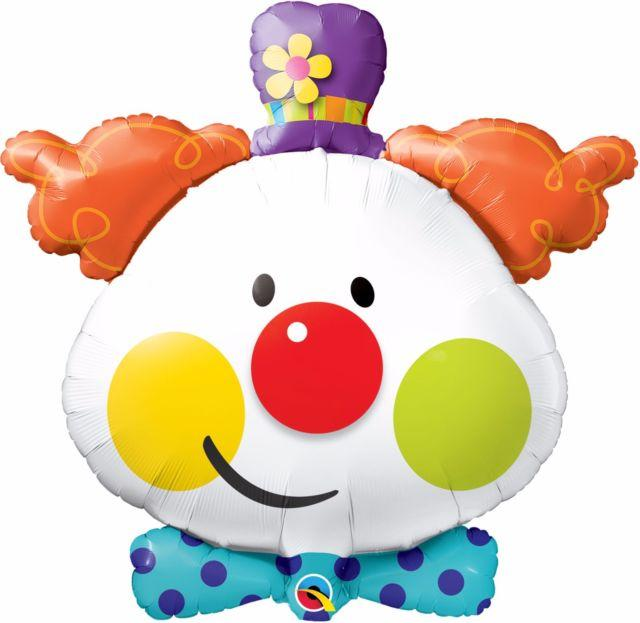BALLOON FOIL SHAPE CLOWN 60CM