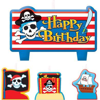 PIRATE TREASURE B/DAY CANDLE SET - Discontinued Line Last Chance To Buy