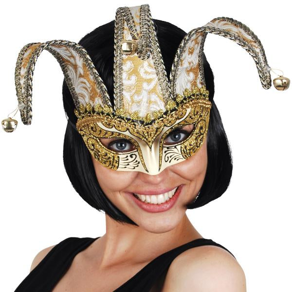 MASK COURT JESTER GOLD JACQUARD