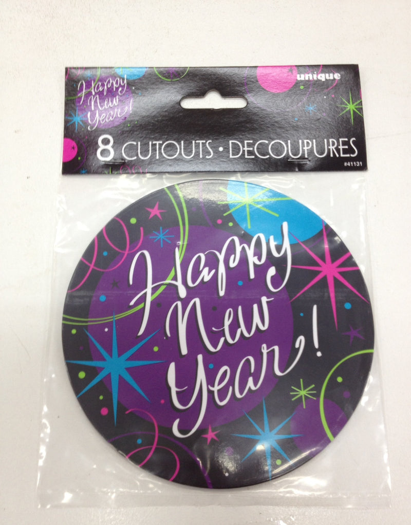 CUTOUTS MINI STELLAR NEW YEAR PK/8