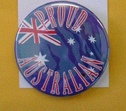 BADGE PROUD AUSTRALIAN AUSSIE FLAG