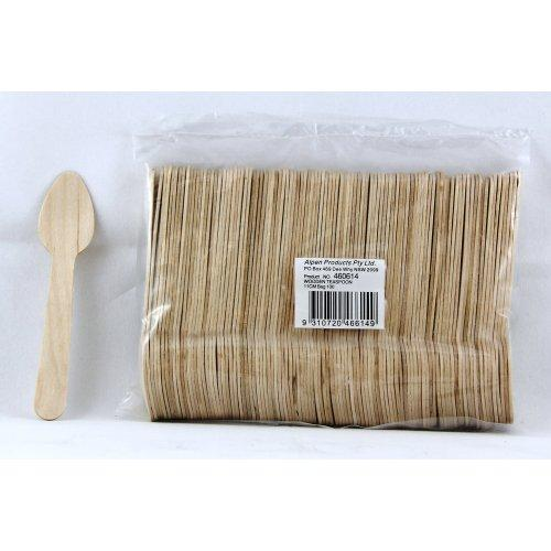 BIRCH WOOD ECO TEASPOONS 11CM PACK OF 100
