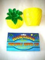 PINEAPPLE SIPPER CUP PLASTIC