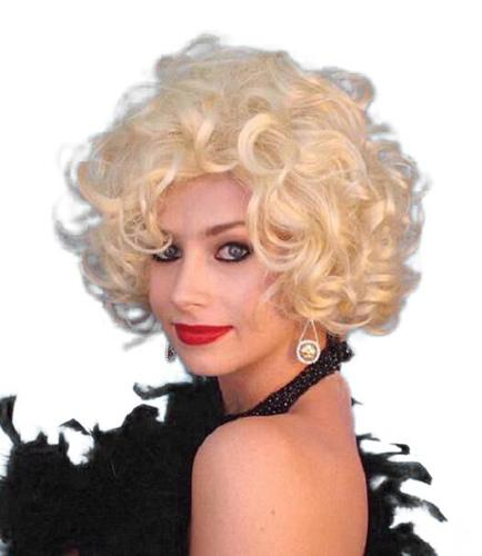 WIG CURLY BLONDE SILVER SCREEN STAR