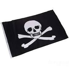 PIRATE FLAG BLACK NYLON 50X30CM