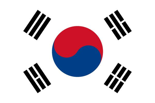 FLAG SOUTH KOREA 10X15CM DESK