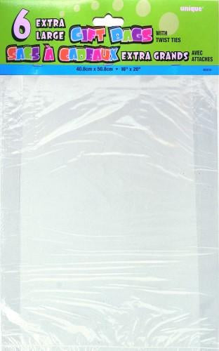CELLO BAGS CLEAR LARGE PK/6