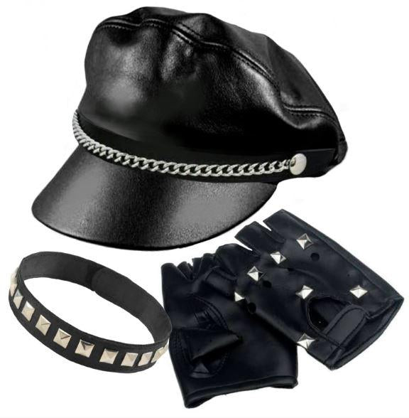 COSTUME ADULT BAD BIKER KIT 3 PCS