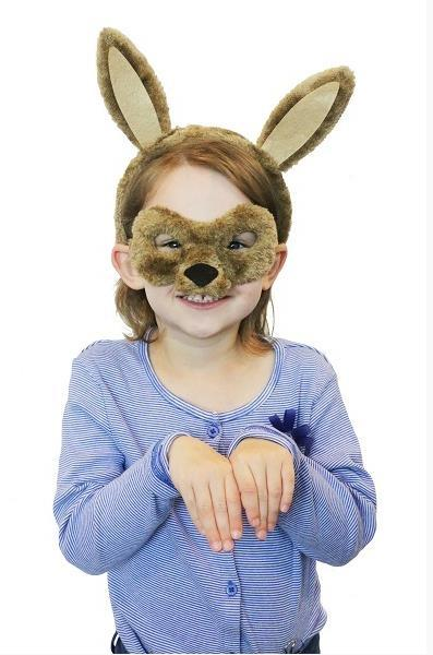 COSTUME SET ANIMAL KANGAROO DELUXE INCLUDES HEADBAND & MASK