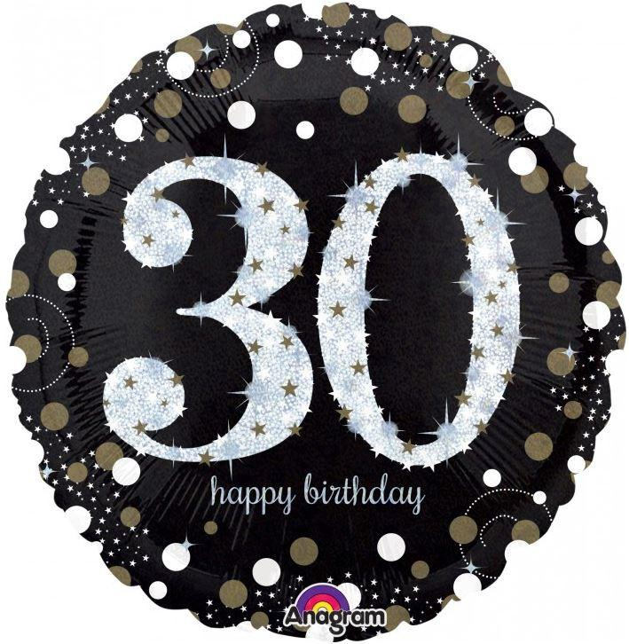 BALLOON FOIL 45CM GOLD CELEBRATION 30TH