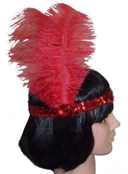 HEADBAND 20s SEQUINNED RED