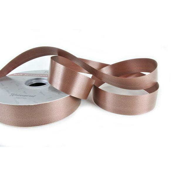RIBBON 30MM CHOCOLATE 100M