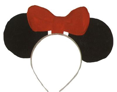MOUSE EARS WITH RED BOW TIE