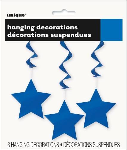 HANGING STARS ROYAL BLUE 90CM PK/3