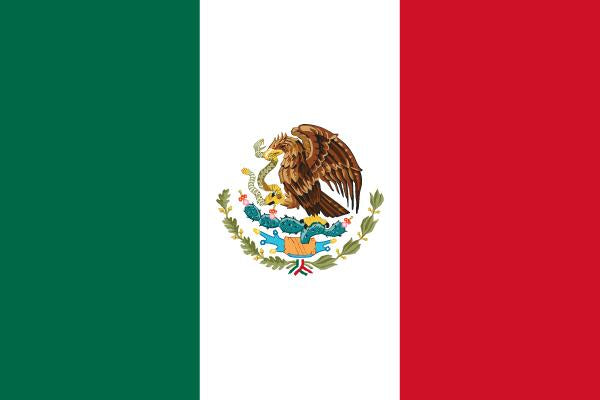 FLAG MEXICO 15X10CM DESK