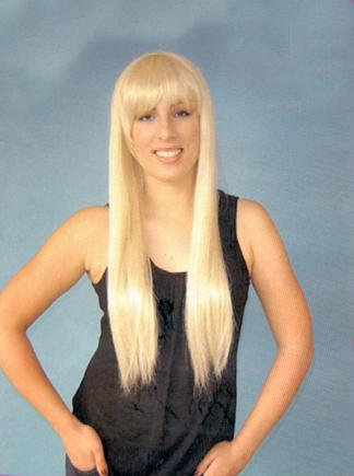 WIG BLONDE LONG WITH FRINGE 1970s DELUXe