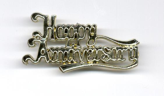 TOPPER HAPPY ANNIVERSARY GOLD