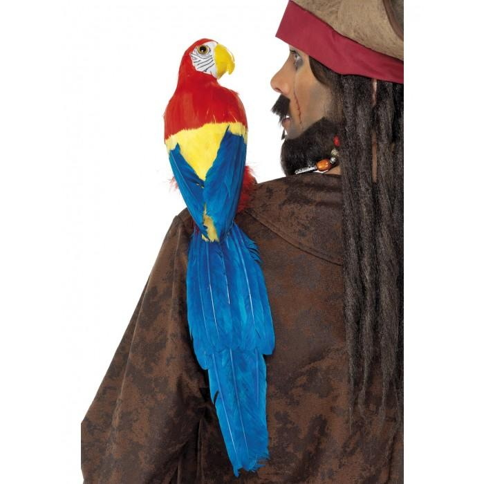 PIRATE PARROT LARGE 50CM W/HOLDER