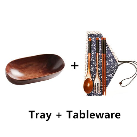 Wooden Tray and Tableware - Refill4Planet - Tableware