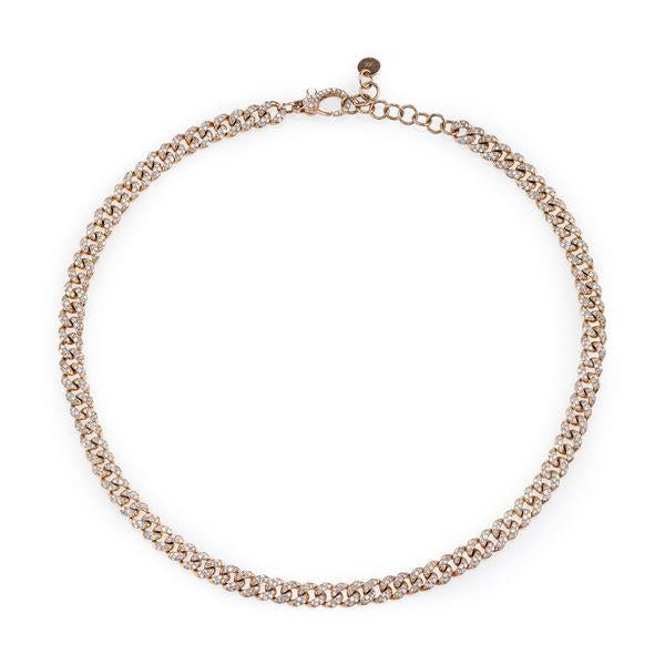 SHAY Diamond Pave Mini Link Necklace