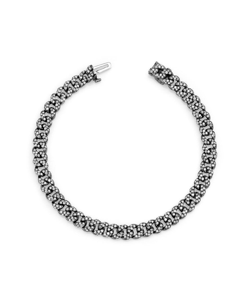 Shay Jewelry Mini Pave Black Diamond Bracelet