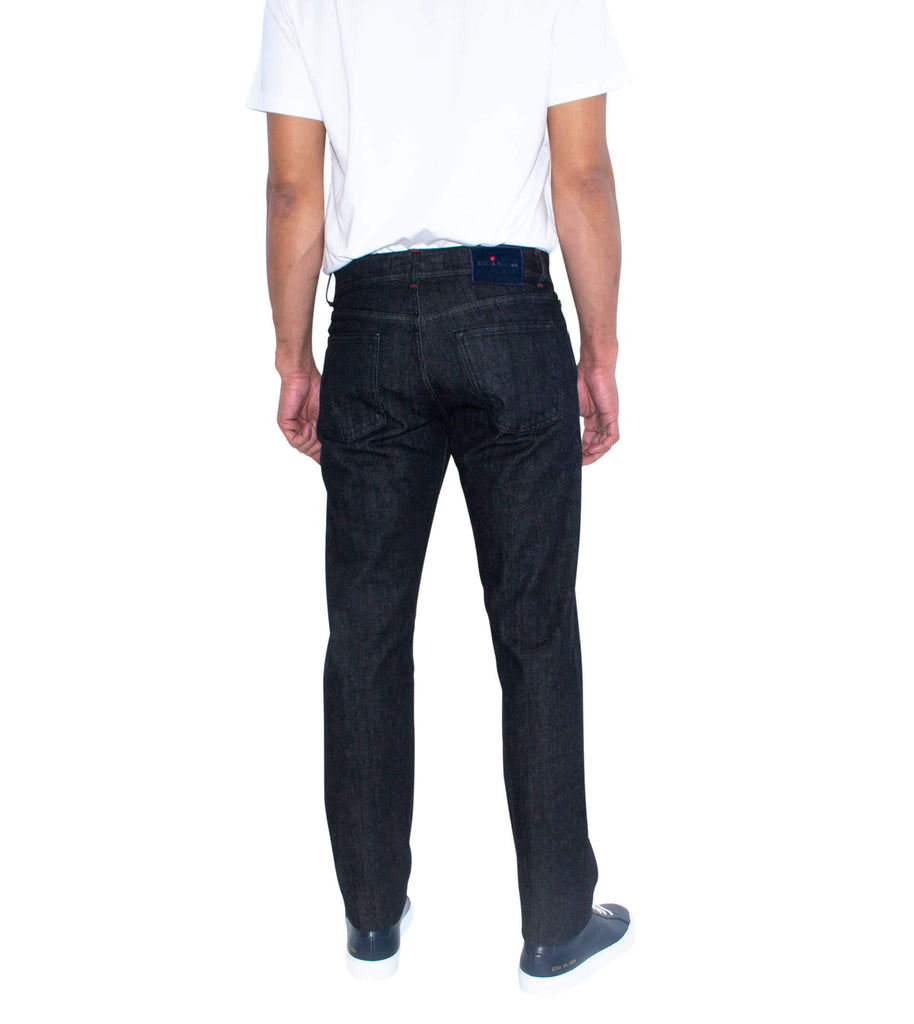 KITON Denim Black Slim Fit