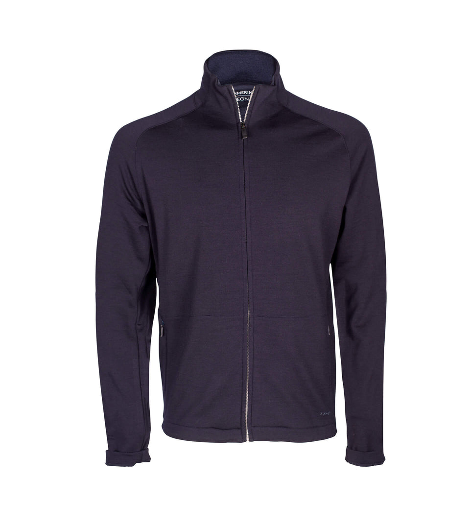 Z-Zegna Techmerino Wool Full Zip Sport Mock