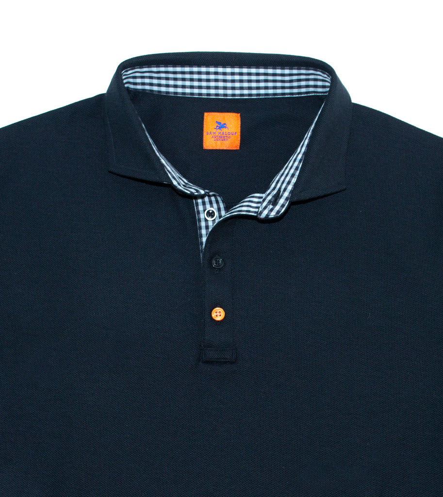 SAM MALOUF ORANGE LABEL Comfort Pique Polo +Colors