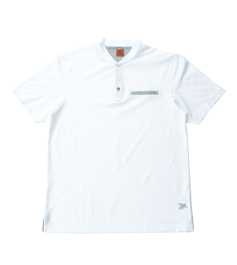 SAM MALOUF ORANGE LABEL Technical Short Sleeve Henley +Colors