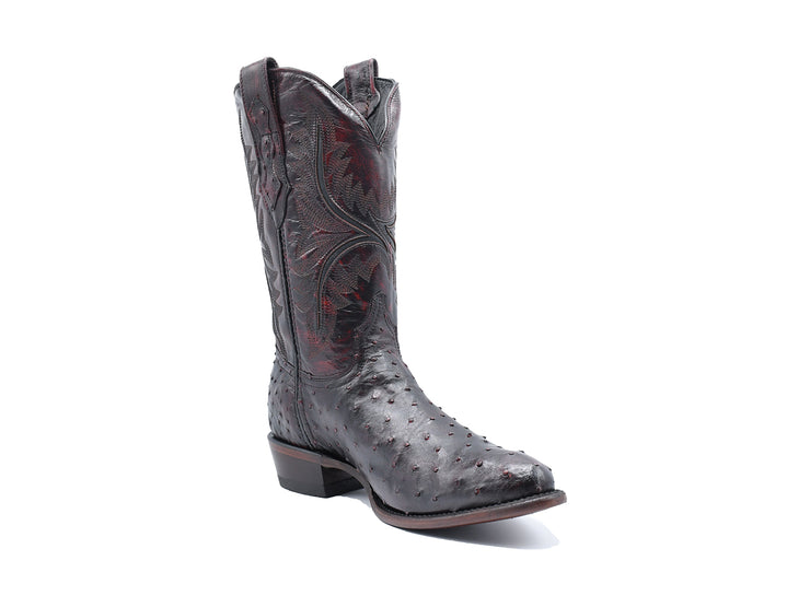 Texas Country Full Quill Ostrich Western Boot