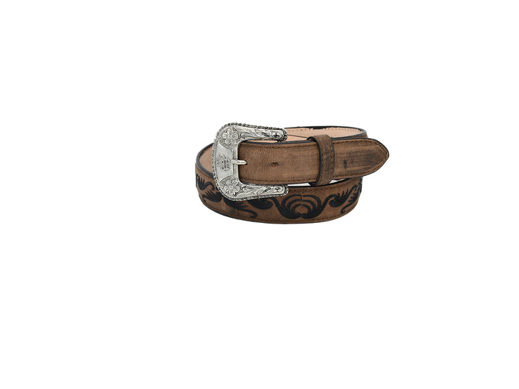 Womens Texas Country Western Leather Belt Taurine