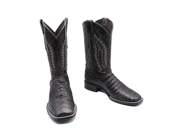 Veretta Leather Western Boot Belly Choco
