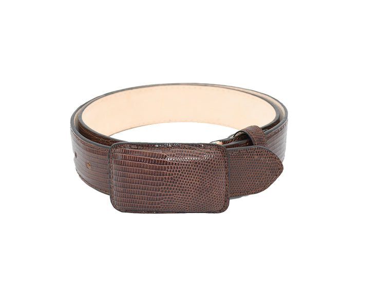 Mens Texas Country Exotic Lizard Belt