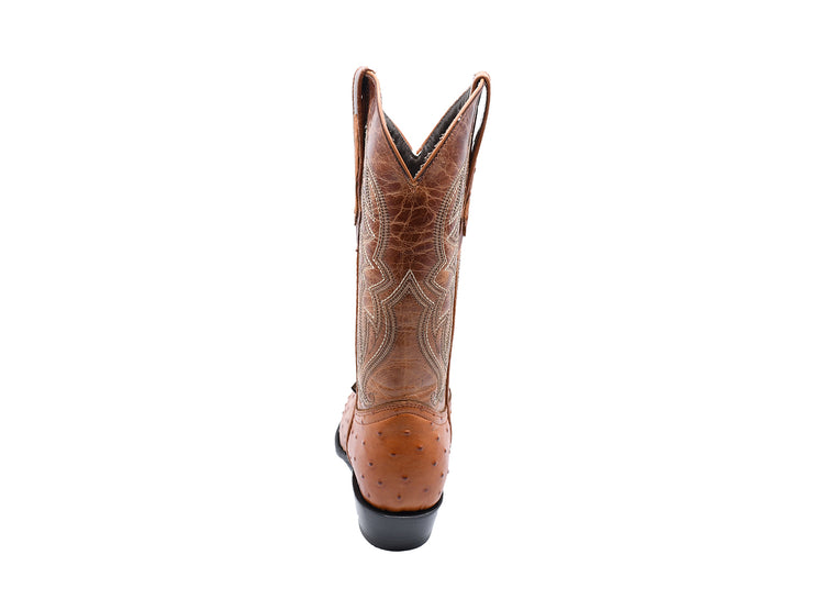 Texas Country Western Boot Ostrich Print