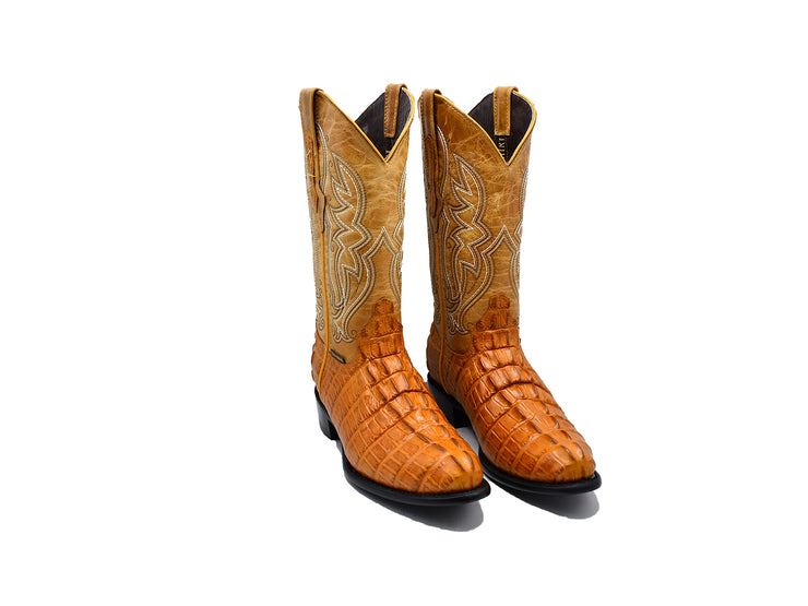 Texas Country Western Boot Caiman Print