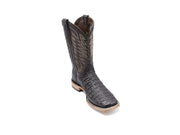 Texas Country Caiman Back Western Boot, Square Toe Tabaco