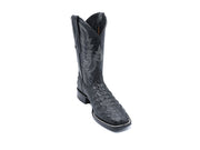 Veretta Leather Western Boot Lomo Black