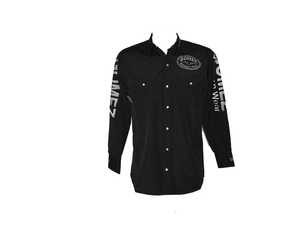 Texas Country Black Mens Long Sleeve Western Shirt