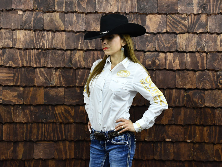 Rodeo Carte White Womens Long Sleeve Western Shirt