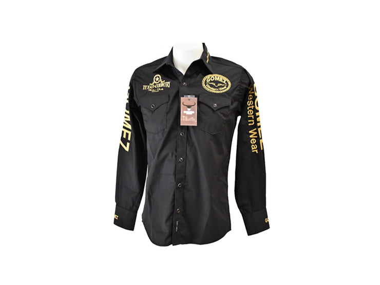 Rodeo Carte Black Mens Long Sleeve Western Shirt