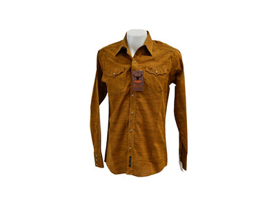Rodeo Carte Copper Mens Long Sleeve Western Shirt
