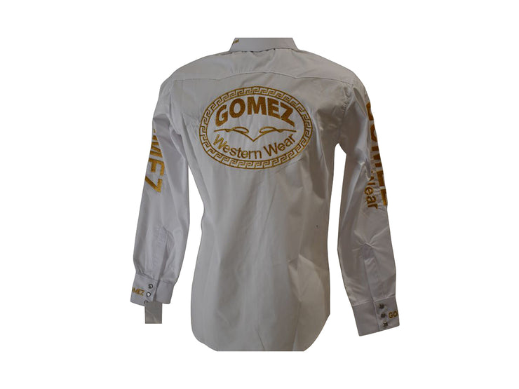 Rodeo Carte White Mens Long Sleeve Western Shirt